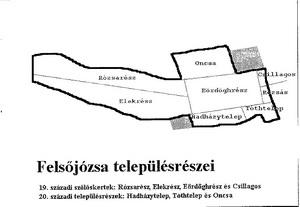 Felsőjózsa településrészei